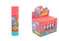 """Клей-карандаш 8г, PVA """"Teddy"""" (24 штуки в упаковке), 320228, магазин игрушек"""