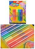 Клей Colorino Rainbow с блестками 10.5 мл, 6 цветов, 68796PTR, детские игрушки