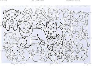 Книга-раскраска для детей «Цветы, банты и куклы!», 5810, цена