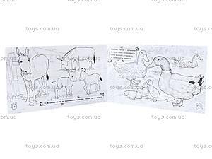 Книжка-раскраска «Животные. На ферме», А583007У, купить