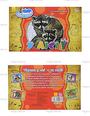 Книжка-раскраска «Животные. В лесу», А583008У