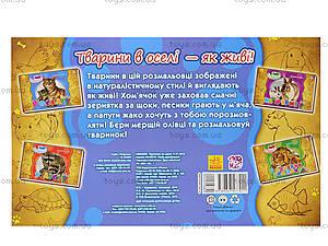 Книжка-раскраска «Животные. В доме», А583006У, цена