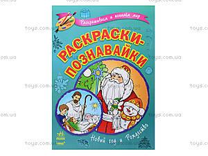 Раскраски-познавайки «Новый год и Рождество», К164011Р, цена