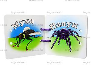 Книжка на шнурке «Комахи та рептилії», , купить