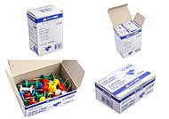 Кнопки-гвоздики цветные JOBMAX, 25 штук (10 наборов в упаковке), BM.5153, цена