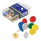 Классические кнопки цветные 100 шт. пластиковое покрытие по 10 упак, BM.5176, toys.com.ua