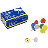 Кнопки цветные, пластиковое покрытие JOBMAX, 50 шт. по 10 упак, BM.5177, детские игрушки