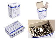 Кнопки никелированные JOBMAX, 50 штук (10 наборов в упаковке), BM.5105, магазин игрушек