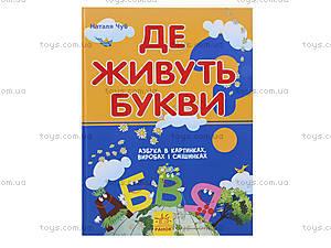 Детская книга-игра «Где живут буквы?», украинская, 9076, отзывы