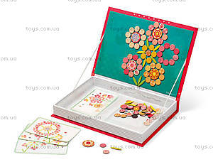 Книга-мозаика магнитная «Цветы», 113 деталей, J02838