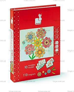 Книга-мозаика магнитная «Цветы», 113 деталей, J02838, купить
