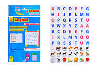 Книга с магнитами English «Учимся писать», Л385001Р, купить