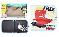 """Книжка-коврик для рисования водными мелками """"Счастливый Дино"""", RE333-64-65-67-68"""