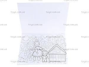 Книжка-раскраска «Куклы, бантики, цветочки», К182005Р, купить