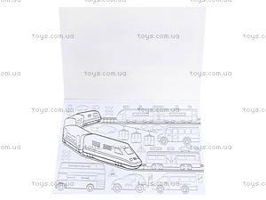 Книжка-раскраска «Лечу, плыву и еду», К182006Р, отзывы