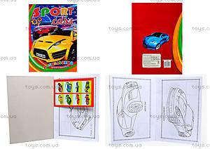 Книжка-раскраска «Наклей и раскрась» серии Sport cars, 110081