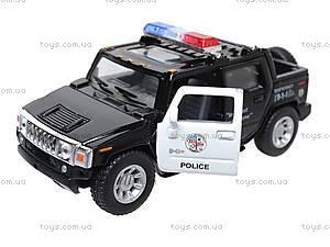 Коллекционная модель авто Hummer H2 Police, KT5097WP, игрушки