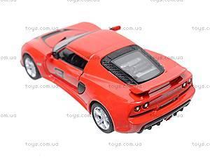 Коллекционная модель авто Lotus Exige S, KT5361W, игрушки