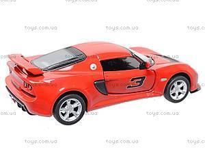 Коллекционная модель авто Lotus Exige S, KT5361W, детские игрушки