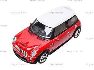 Коллекционная модель авто Mini Cooper, 6010, игрушки