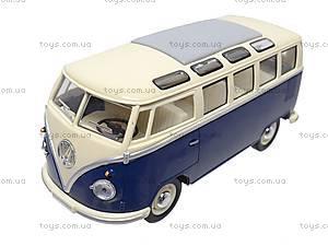 Коллекционная модель автомобиля Volkswagen Classical Bus, KT7005W, игрушки