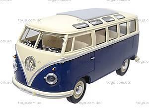 Коллекционная модель автомобиля Volkswagen Classical Bus, KT7005W, детские игрушки