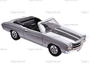 Коллекционная модель Chevrolet Chevelle, 22089 W, детские игрушки