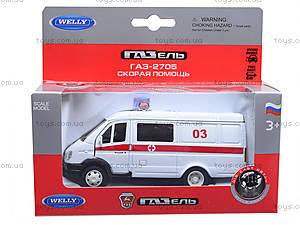 Коллекционная модель GAZ «Скорая помощь», 42387BAE-W, детские игрушки