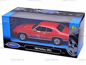Коллекционная модель Pontiac GTO, 22501W, игрушки