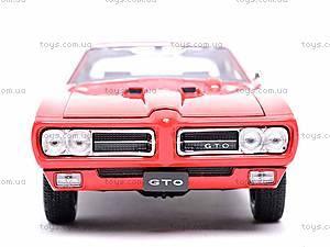Коллекционная модель Pontiac GTO, 22501W, детские игрушки