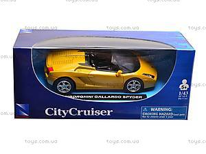 Коллекционная моделька City Cruiser, 19007N, детские игрушки