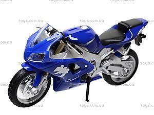 Коллекционный мотоцикл 1:18, 19660W-11A, игрушки