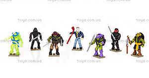 Коллекционная фигурка Mega Bloks из фильма «Подростки-мутанты Черепашки-ниндзя 2», DPW12, детские игрушки