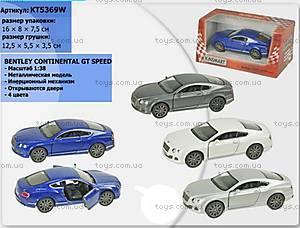 Машина Bentley Continental GT Speed, KT5369W