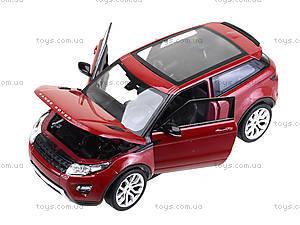 Коллекционная модель Renge Rover Evoque, 24021W, игрушки