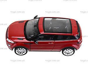 Коллекционная модель Renge Rover Evoque, 24021W, детские игрушки