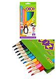 Карандаши цветные ZiBi Kids Line, 12 цветов, ZB.2414, тойс ком юа