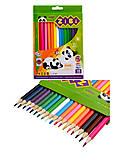 Карандаши цветные ZiBi Kids Line, 18 цветов, ZB.2415, фото