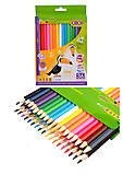 Карандаши цветные ZiBi Kids Line, 36 цветов, ZB.2417