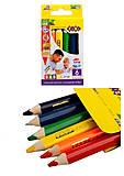 Карандаши цветные JUMBO, 6 цветов, ZB.2450, детские игрушки