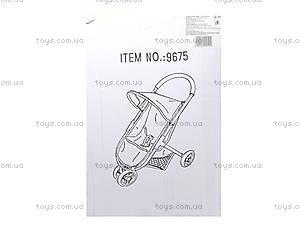 Кукольная коляска Melogo с козырьком, 9675, купить