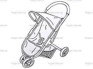 Кукольная коляска Melogo с козырьком, 9675, фото