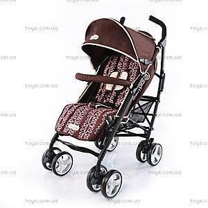 Прогулочная коляска-трость Brown Pink Pad, BP-101702-FY BROWN+PINK P
