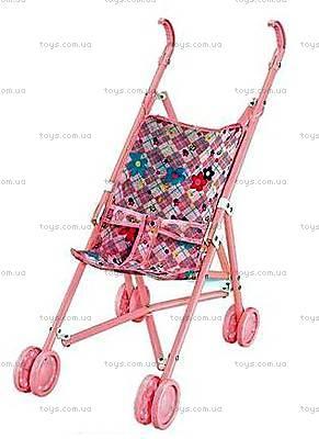 Коляска-трость для кукол летняя, розовая, PZ-3462A/FL6066