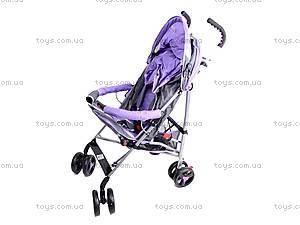 Коляска-трость с бампером, фиолетовая, DF-02, купить