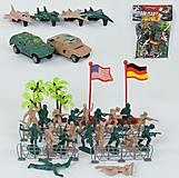 Игровой набор с военной техникой, солдатиками, машинками, 36 деталей, 79105, купить игрушку