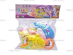 Комплект детских игровых погремушек, 3814, отзывы