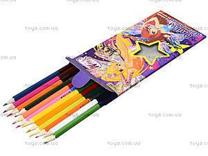 Комплект карандашей двухцветных, 12 штук, 290247, фото