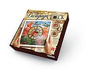 """Комплект креативного творчества """"Decoupage Clock: Маки"""" , DKС-01-01,02,, купить"""