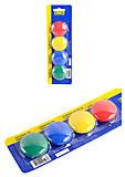 Комплект магнитов, 4 шт х 30мм, цветные, BM.0022-43, игрушка